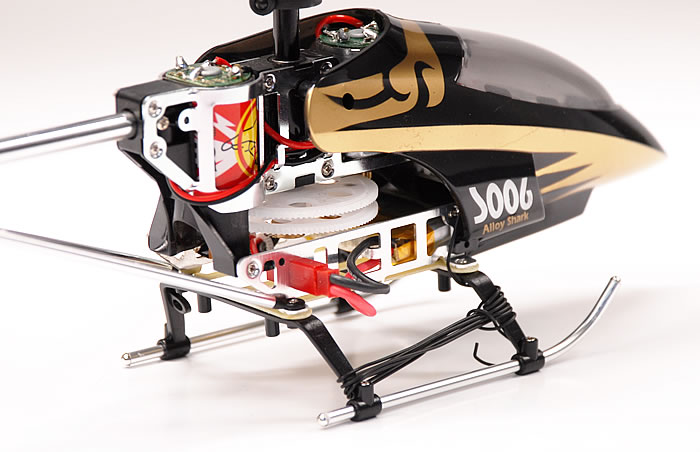 3 Ch Syma S006 Alloy Shark RC Remote Control Metal Frame Helicopter