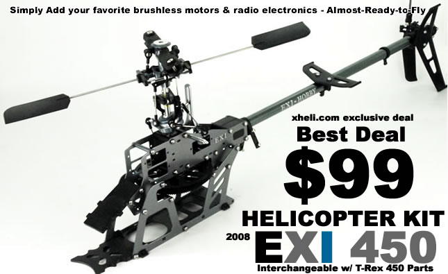 EXI 450 ARF Radio Controlled Helicopter