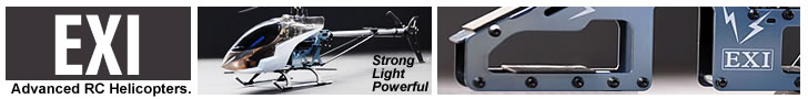 EXI - Advanced RC Helicopters - Strong - Light - Powerful